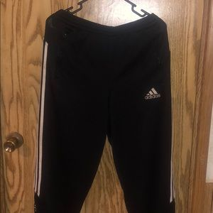 Men's adidas athletic pants with zipper pockets